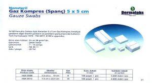 DERMATEKS SPANCH 5 x 5
