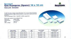 DERMATEKS SPANCH 10 x 10