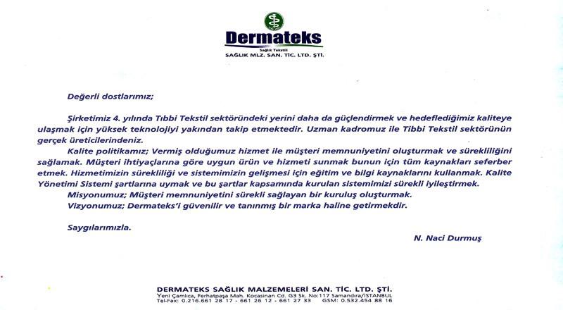 DERMATEKS HAKKINDA